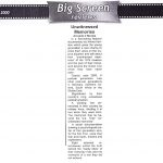 Unwitnessed memories. Big Screen Reviews. Cyprus Weekly October 2000